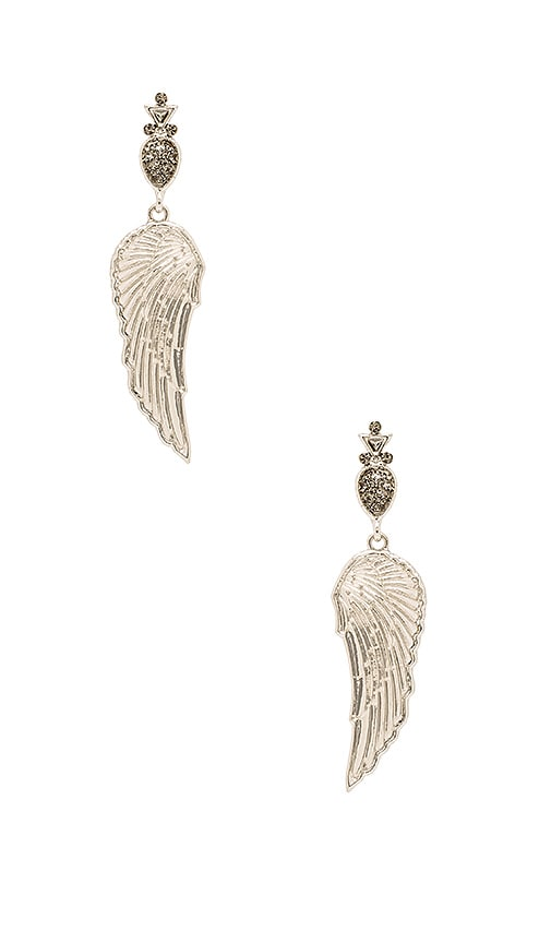 House of Harlow 1960 The Avium Earrings in Metallic Silver