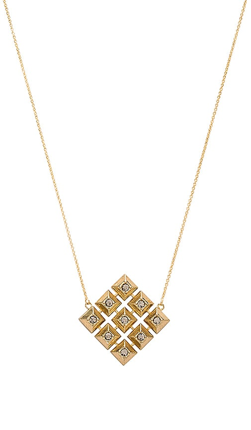 House of Harlow 1960 The Lyra Pendant Necklace in Metallic Gold