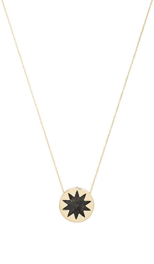 House of Harlow 1960 Mini Sunburst Pendant Necklace in Metallic Gold