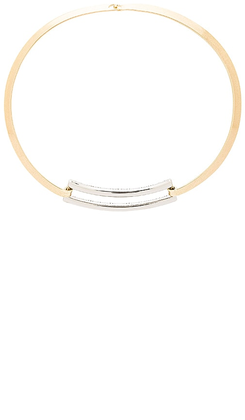 House of Harlow 1960 Coronado Statement Necklace in Metallic Gold