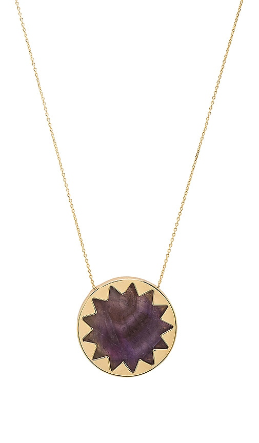 House of Harlow 1960 Sunburst Pendant Necklace in Metallic Gold