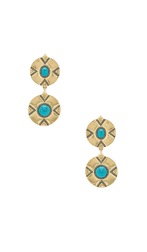 House of Harlow 1960 x REVOLVE Dorelia Double Coin Earring in Metallic Gold