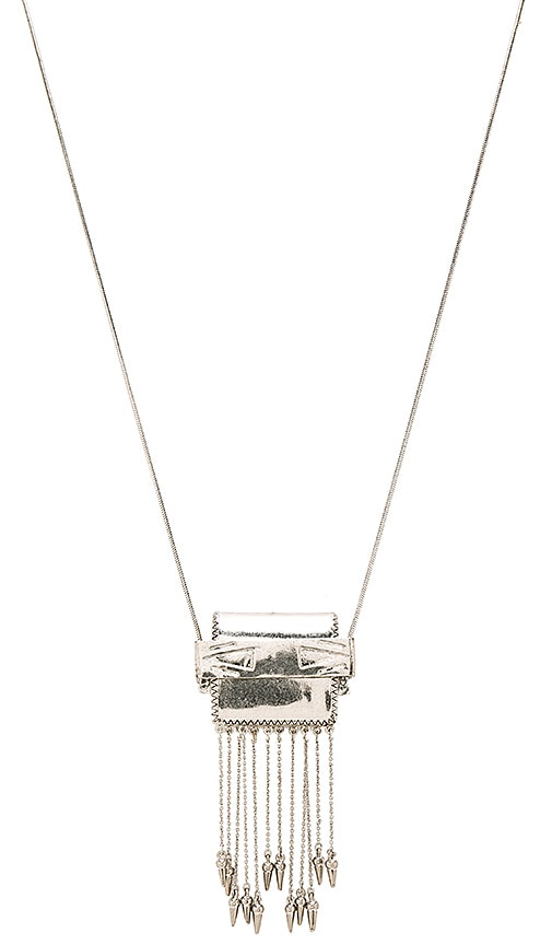 House of Harlow 1960 Ayita Satchel Pendant in Metallic Silver