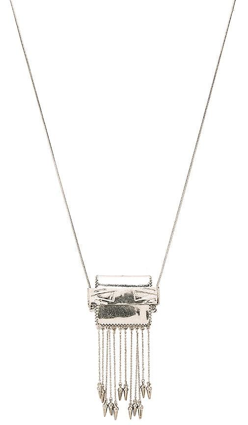 House of Harlow 1960 Ayita Satchel Pendant in Metallic Silver