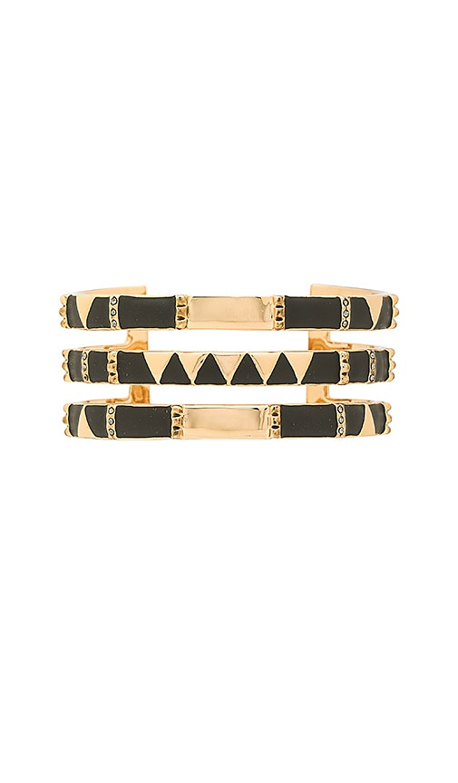 House of Harlow 1960 Nelli Cuff Bracelet in Metallic Gold