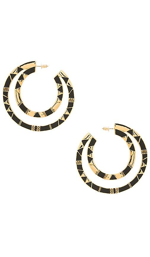 House of Harlow 1960 Nelli Large Hoop Earring in Metallic Gold