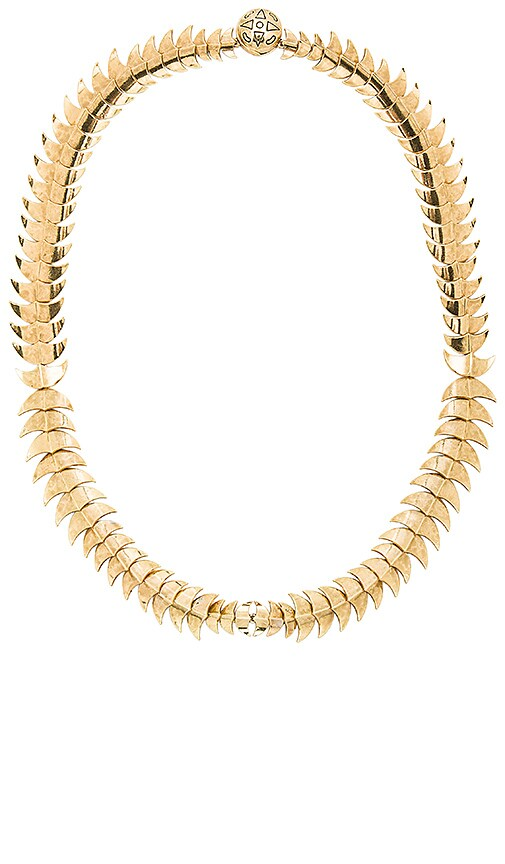 House of Harlow 1960 Dorado Link Necklace in Metallic Gold