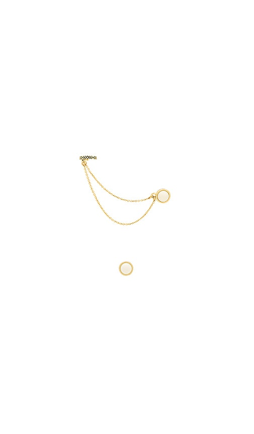 House of Harlow 1960 Coronado Double Chain Ear Cuff in Metallic Gold