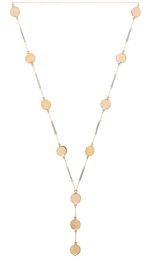 House of Harlow 1960 Nuri Y Necklace in Metallic Gold