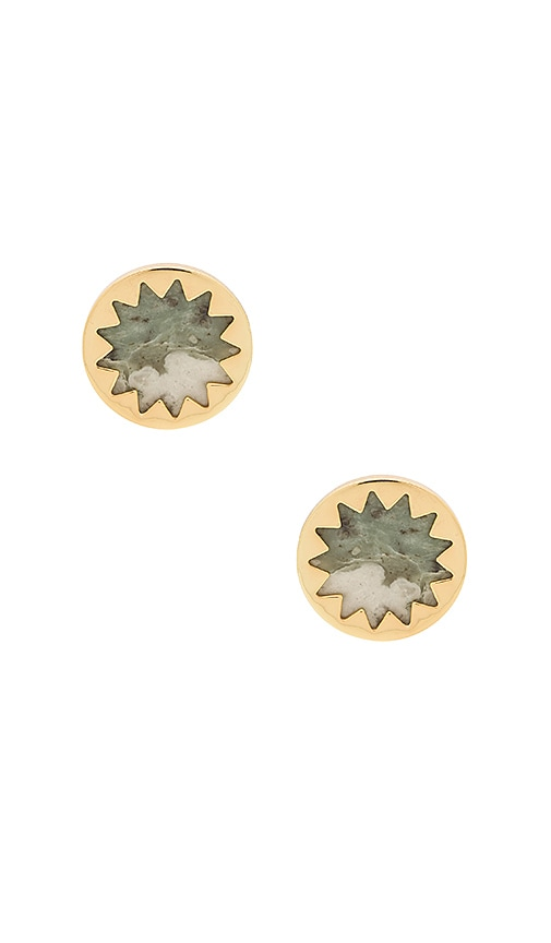 Sunburst Button Earring
