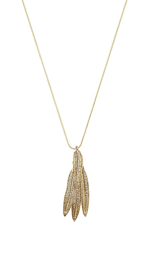 House of Harlow 1960 Cedro Dangle Pendant Necklace in Metallic Gold