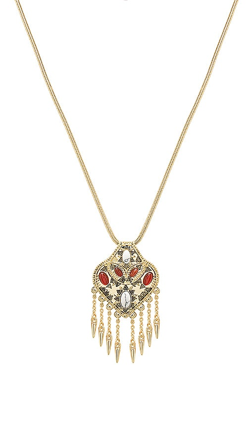 House of Harlow 1960 Montezuma Small Pendant Necklace in Metallic Gold