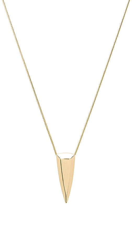 House of Harlow 1960 Mesa Pendant Necklace in Metallic Gold