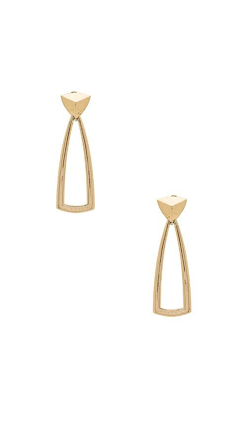 House of Harlow 1960 Mesa Door Knocker Earrings in Metallic Gold