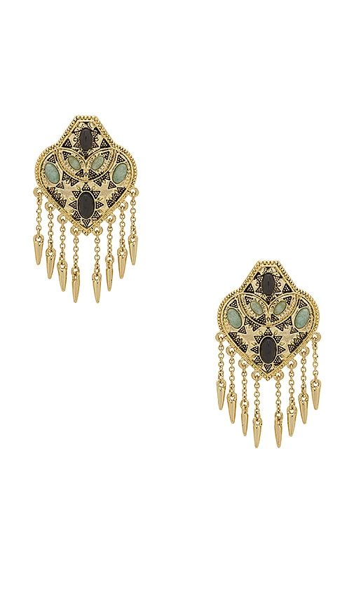 House of Harlow 1960 Montezuma Statement Earrings in Metallic Gold