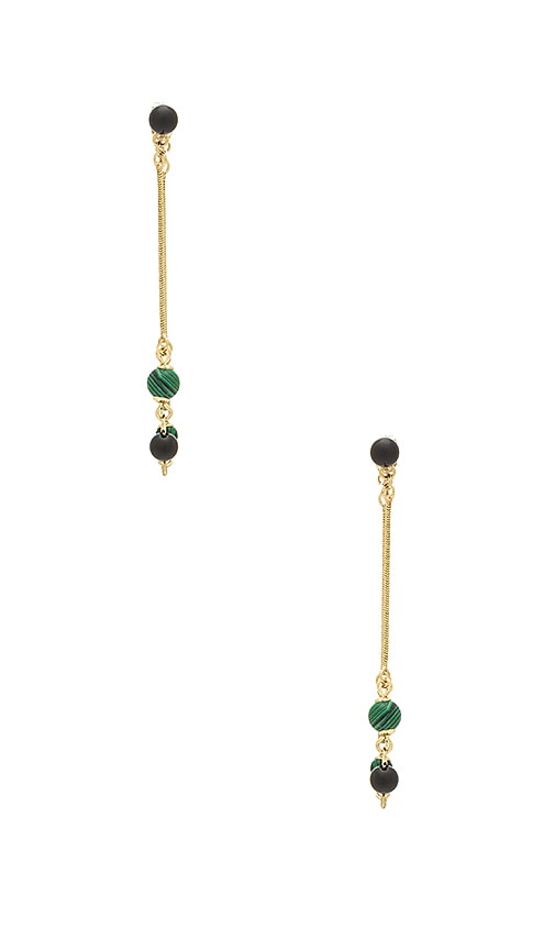 House of Harlow 1960 Ulli Dangle Earrings in Metallic Gold
