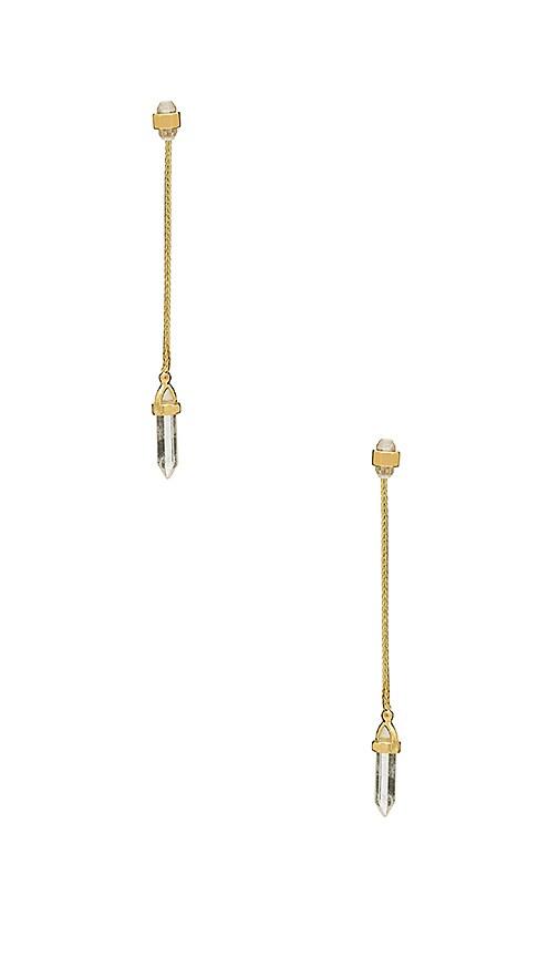 House of Harlow 1960 Crystal Ear Jacket Earrings in Metallic Gold
