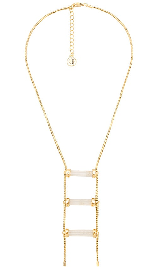 Triple Crystal Necklace in Metallic Gold House Of Harlow J0jKsT