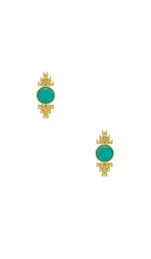House of Harlow 1960 X REVOLVE Nuri Stud Earrings in Metallic Gold