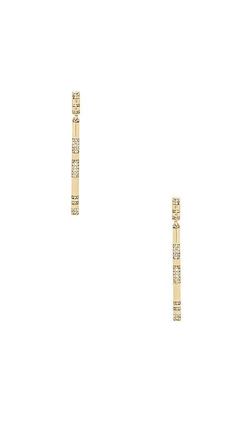House of Harlow 1960 X REVOLVE Atum Bar Drop Earrings in Metallic Gold
