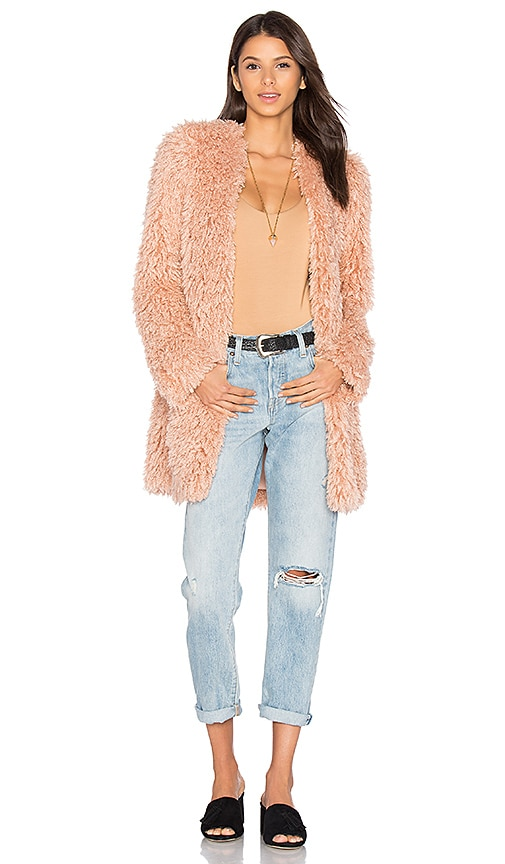 House of Harlow 1960 x REVOLVE Janice Shag Coat in Peach