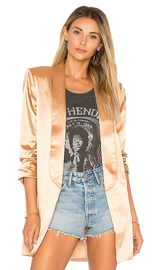 House of Harlow 1960 x REVOLVE Chloe Boyfriend Jacket in Metallic Gold