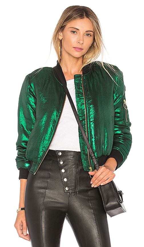 House of Harlow 1960 x REVOLVE Bryce Bomber in Green