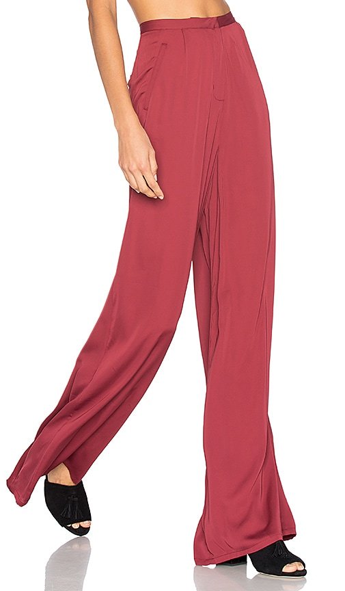 Cool Womens Burgundy Red Waistband Elastic Skinny Cotton Pants Trousers