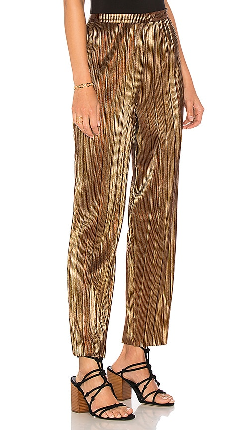 House of Harlow 1960 x REVOLVE Kate Pant in Metallic Gold