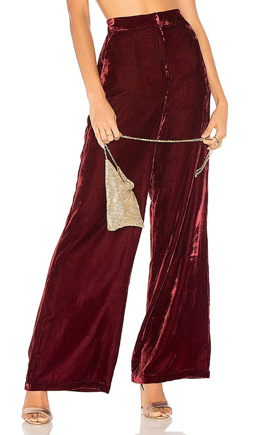 House of Harlow 1960 X REVOLVE Mona Wide Leg Pant in Red