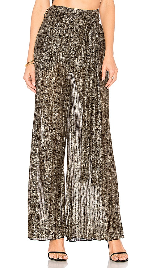 House of Harlow 1960 x REVOLVE Drea Pant in Metallic Gold