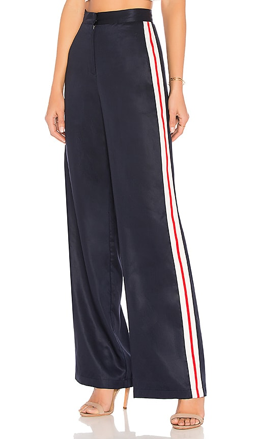 House of Harlow 1960 x REVOLVE Wide Leg Track Pants in Navy