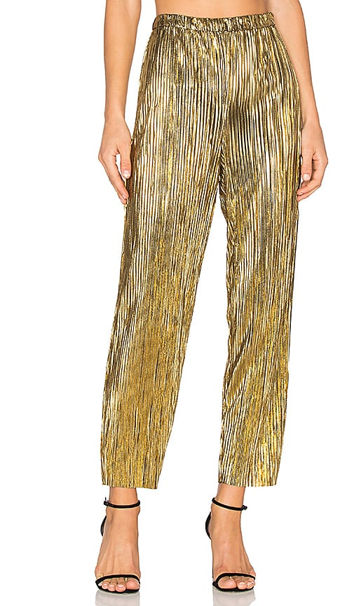 House of Harlow 1960 x REVOLVE Kate Pants in Metallic Gold