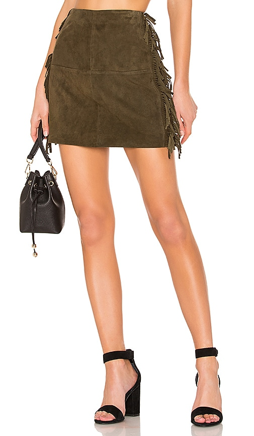 X REVOLVE Serafina Leather Mini Skirt