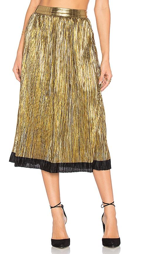 House of Harlow 1960 x REVOLVE Luna Midi Skirt in Metallic Gold