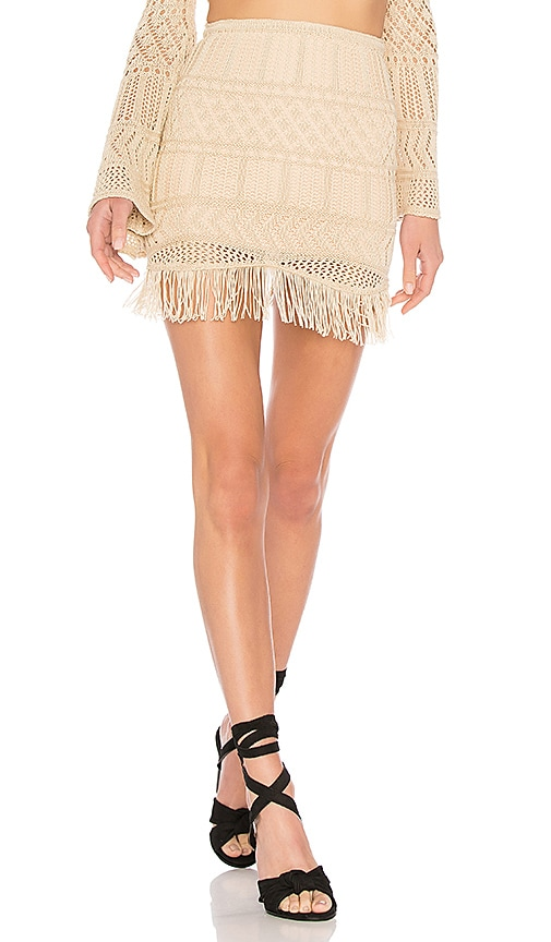 X Revolve Jan Skirt in Cream