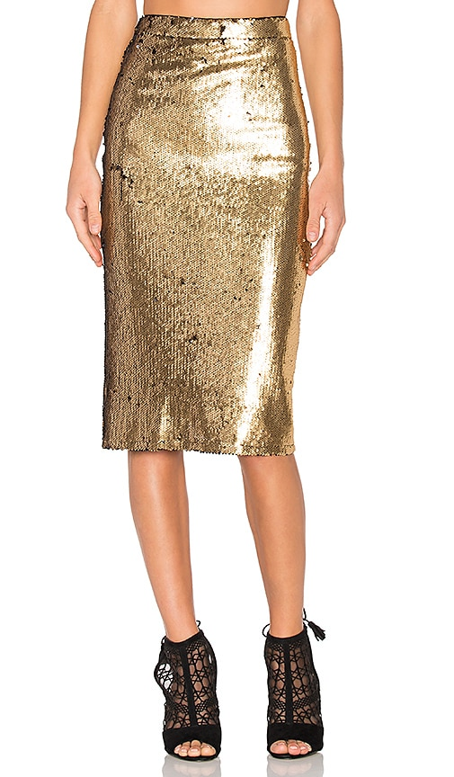 House of Harlow 1960 x REVOLVE Kiki Skirt in Metallic Gold