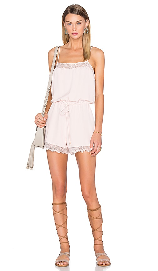 House of Harlow 1960 x REVOLVE Nora Lace Detail Romper in Blush
