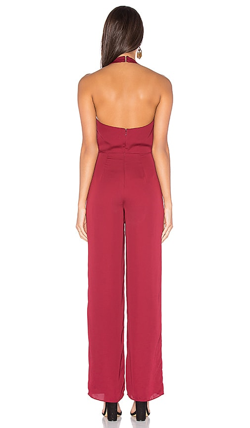 ebb8b1a0b4a delicate House of Harlow 1960 x REVOLVE Coco Tie Front Jumpsuit in Oxblood