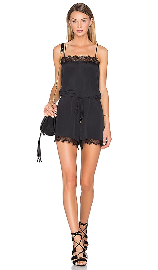 House of Harlow 1960 x REVOLVE Nora Lace Detail Romper in Black