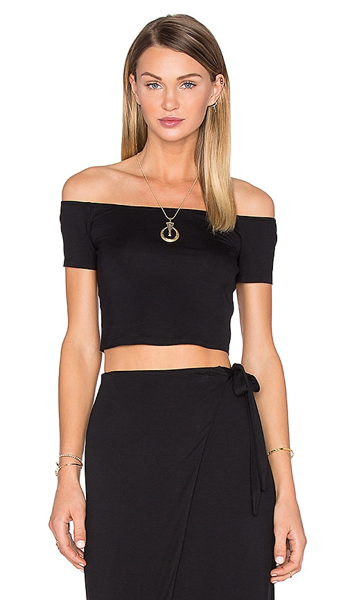 House of Harlow 1960 x REVOLVE Lola Off The Shoulder Crop in Black