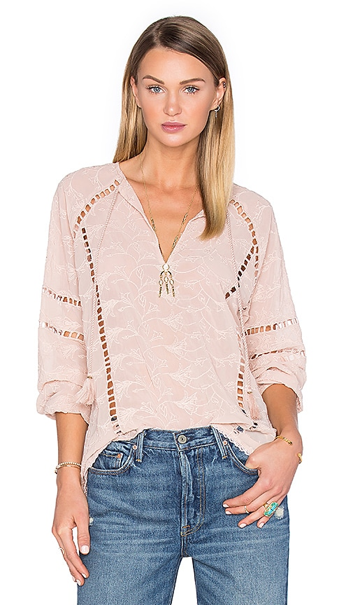 House of Harlow 1960 x REVOLVE Sophie V-Neck Blouse in Taupe