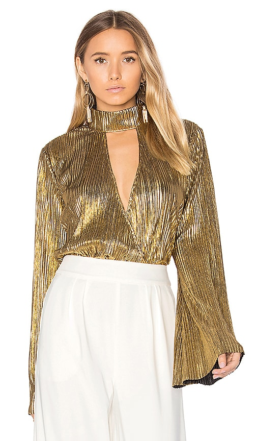 House of Harlow 1960 x REVOLVE Lynn Blouse in Metallic Gold