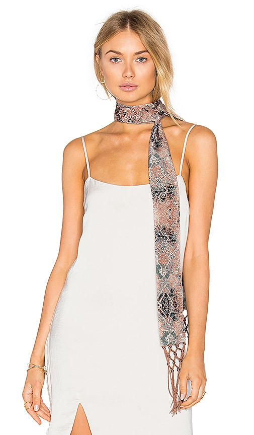 House of Harlow 1960 x REVOLVE Ossie Scarf in Brown