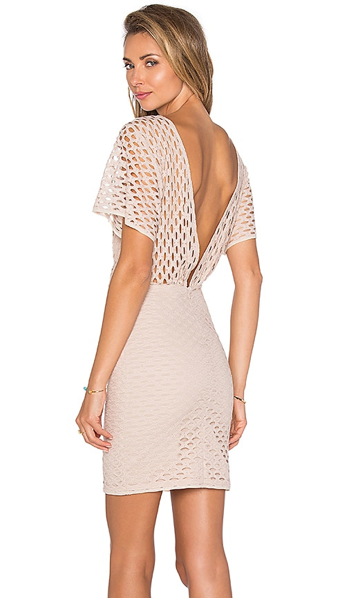 Hoss Intropia Layered Mini Dress in Tan