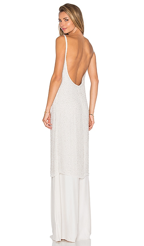 Hoss Intropia Embellished Maxi Dress in Light Grey