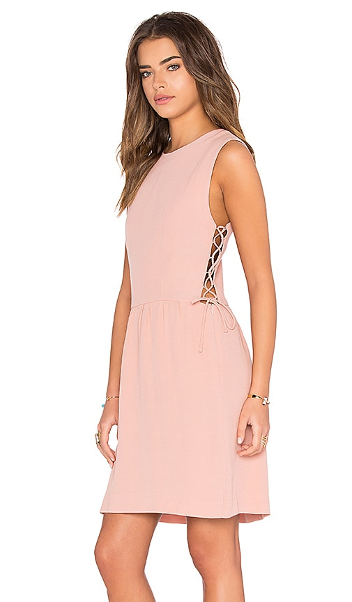 Hoss Intropia Side Lace Up Mini Dress in Blush