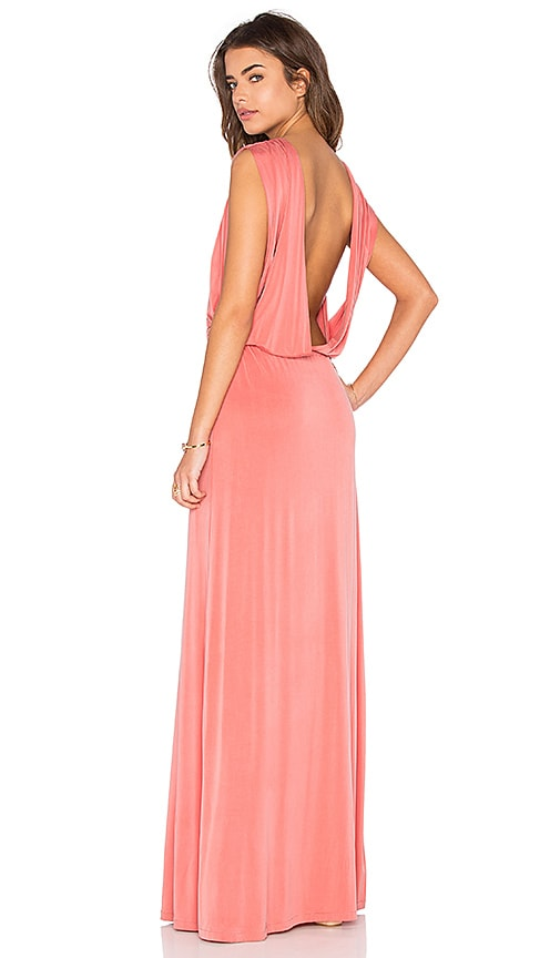 Hoss Intropia Open Back Maxi Dress in Blush