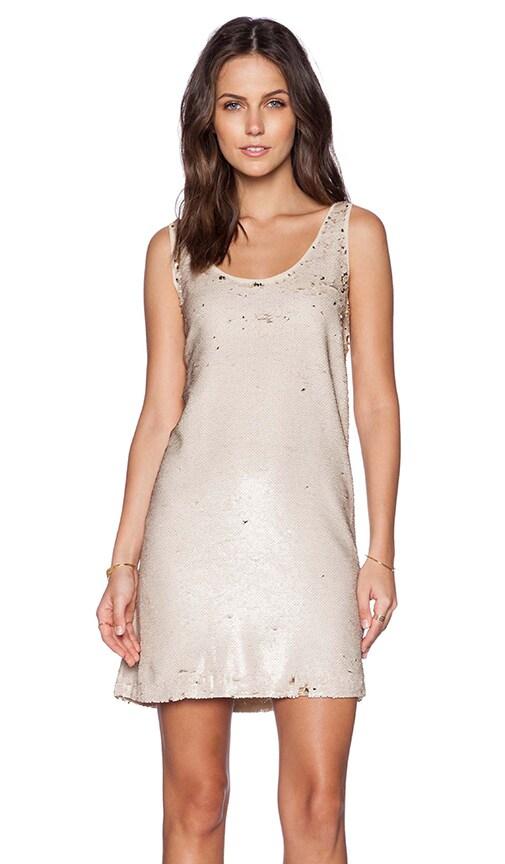 Hoss Intropia Sequin Dress in Gold