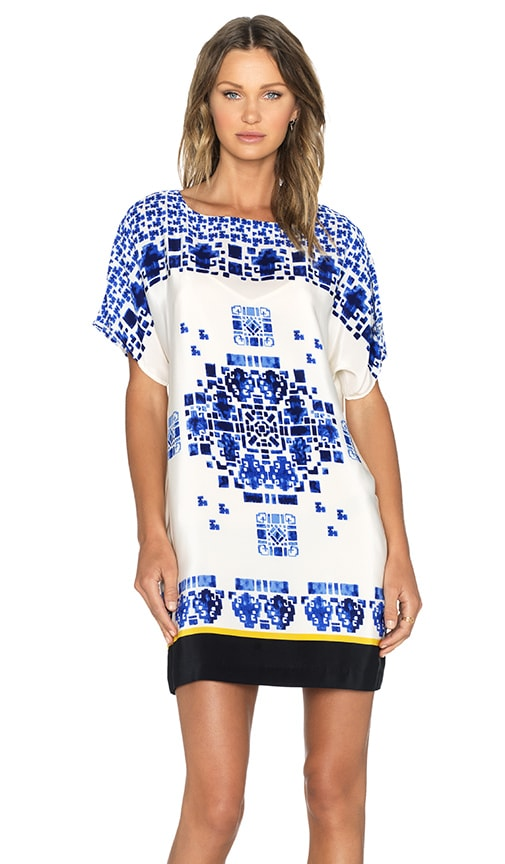 Hoss Intropia Tunic in Blue Print